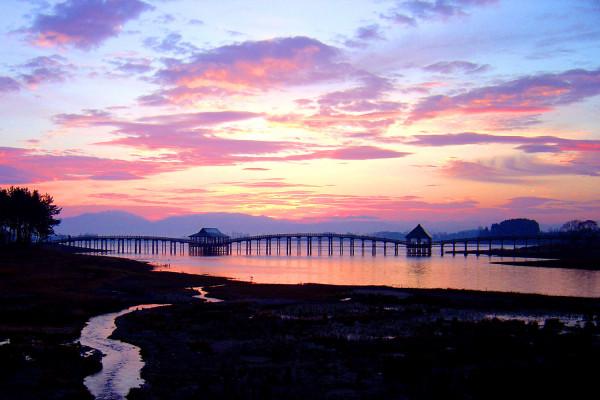 津轻富士见湖和鹤之舞桥