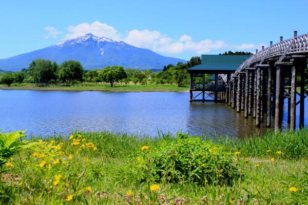 岩木山和津轻富士见湖