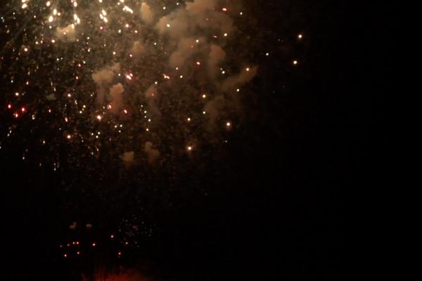 水和火的祭典 鹤田节的烟花大会·龙神船湖上运行