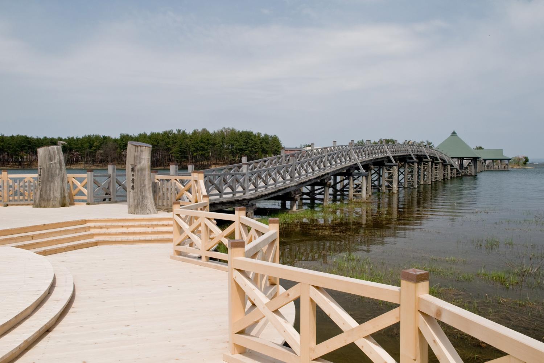 日本第一木造三连太鼓桥