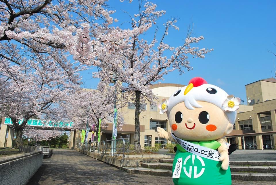 鹤田町的吉祥物·鹤铃(cilulin)也参加此活动哦~!